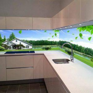 kính màu tranh 3d ốp bếp