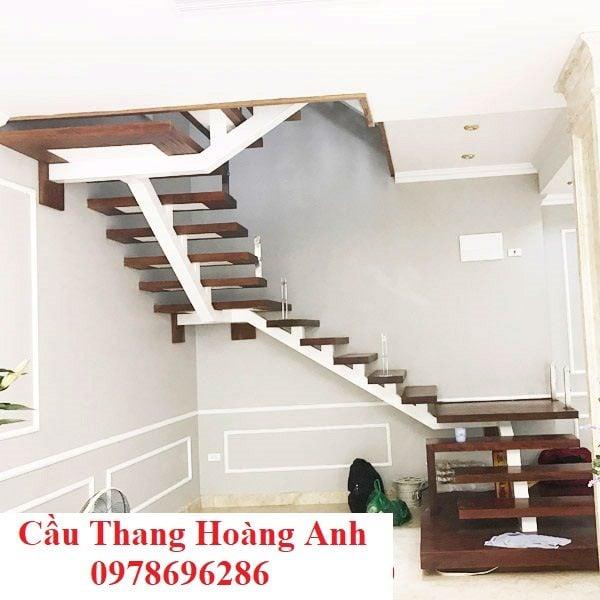 Cầu thang xương sắt đơn