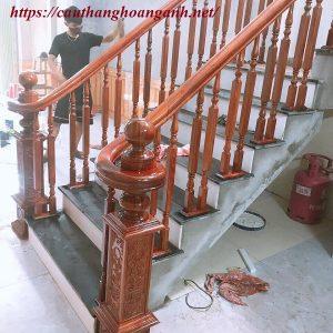 Thi công cầu thang gỗ tại Chương mỹ