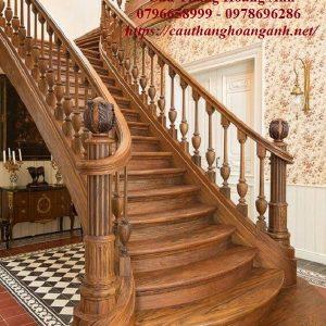 Thi công cầu thang gỗ tại Ba Đình