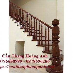 Thi công cầu thang gỗ tại Hai Bà Trưng